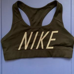 Small NIKE black racer back sports bra